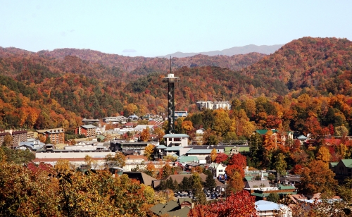 downtown gatlinburg in the fall